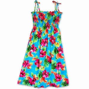 hoopla blue hawaiian moonkiss short dress | short dress hawaiian