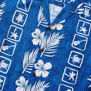island jam blue hawaiian rayon shirt | hawaiian men shirt