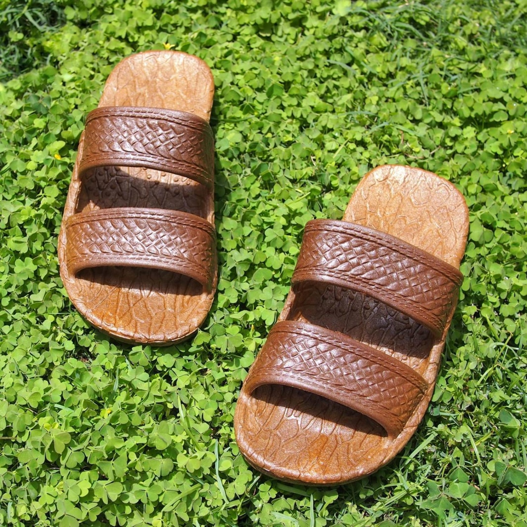 kids brown classic jandals® - pali hawaii Jesus sandals | hawaiian sandals pali hawaii flip flops