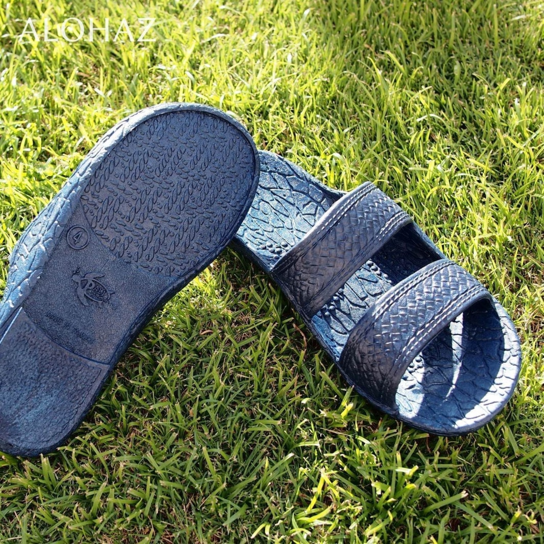 kids navy blue classic jandals® - pali hawaii Jesus sandals | hawaiian sandals pali hawaii flip flops