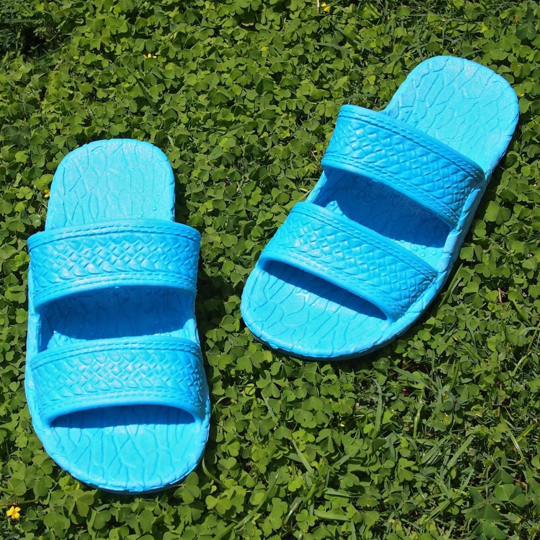 kids sky blue classic jandals® - pali hawaii Jesus sandals | hawaiian sandals pali hawaii flip flops