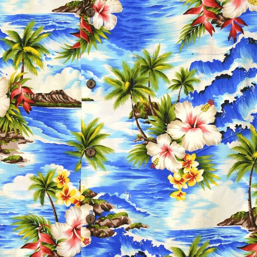 lagoon hawaiian cotton shirt | hawaiian shirt men