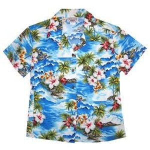lagoon hawaiian lady blouse | women blouse hawaiian