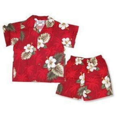 lava hawaiian boy cabana set | hawaiian boy shirt cabana