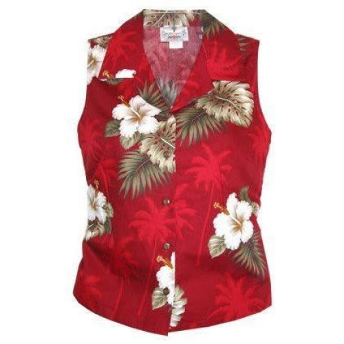 lava hawaiian sleeveless blouse | women blouse hawaiian