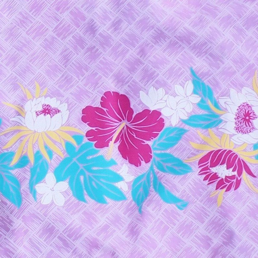 lavender blossom hawaiian single pau hula skirt | hawaiian pau hula skirt single