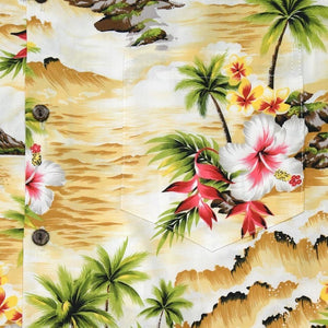 maize hawaiian cotton shirt | hawaiian shirt men