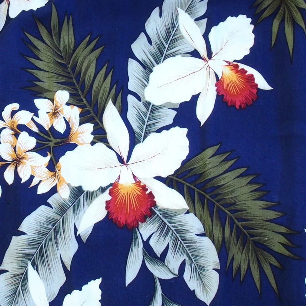 majestic blue hawaiian fabric | hawaiian fabric rayon