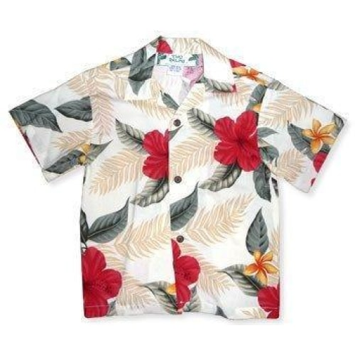 makaha cream hawaiian boy shirt | hawaiian boy teen shirt