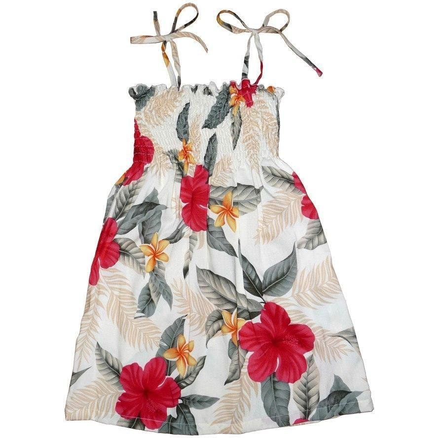 makaha cream hawaiian girl sunkiss dress | hawaiian girl dress