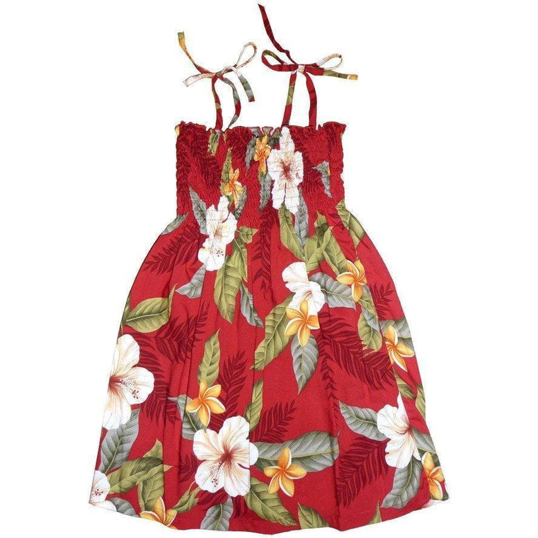 makaha red hawaiian girl sunkiss dress | hawaiian girl dress