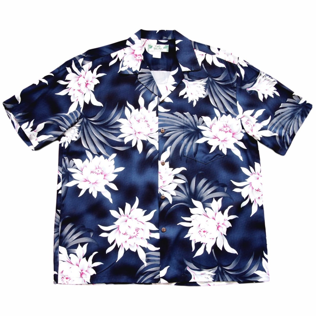 manoa cereus grey hawaiian aloha rayon shirt | hawaiian men shirt