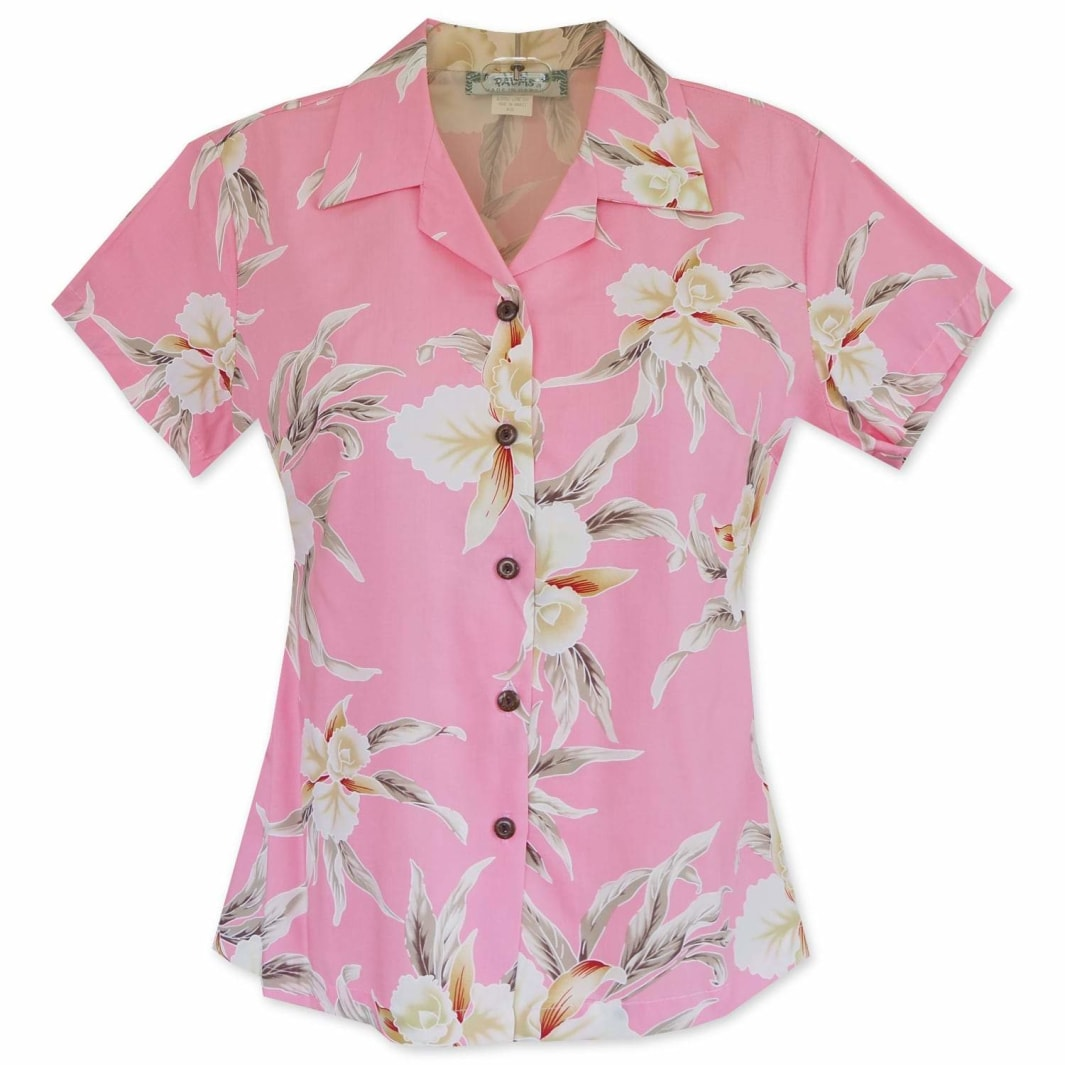 mele pink hawaiian lady blouse | women blouse hawaiian