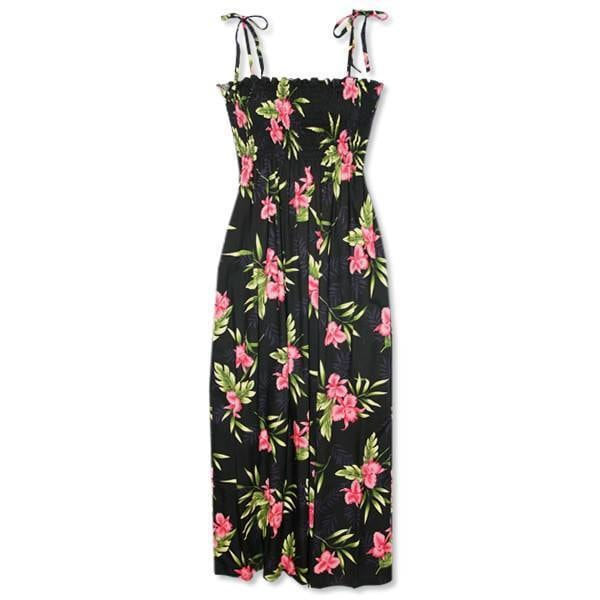 midnight black hawaiian maxi dress | long dress hawaiian