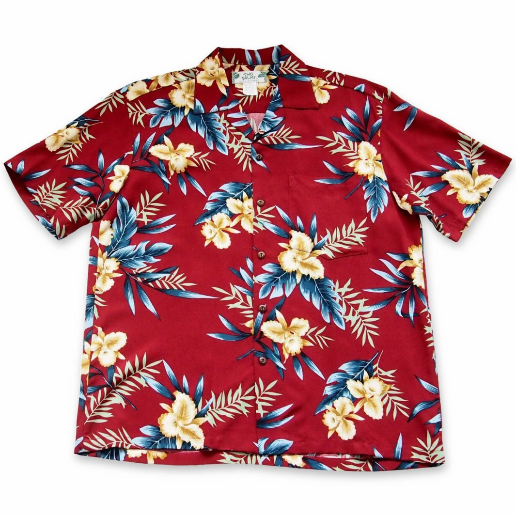 midnight red hawaiian aloha rayon shirt | hawaiian men shirt