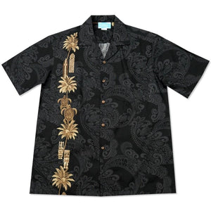 old hawaii black hawaiian border shirt | hawaiian border shirt