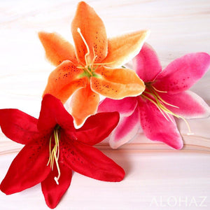 Orange Lily Hawaiian Flower Stick | Hair Accessories
