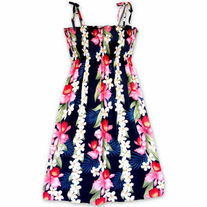 orchid play blue hawaiian moonkiss short dress | short dress hawaiian