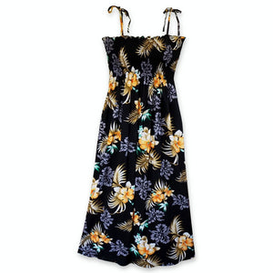 passion black hawaiian maxi dress | long dress hawaiian