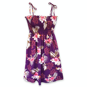passion purple hawaiian moonkiss short dress | short dress hawaiian