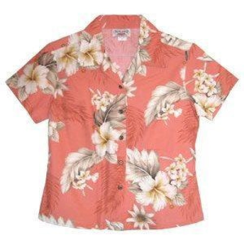 petal hawaiian lady blouse | women blouse hawaiian