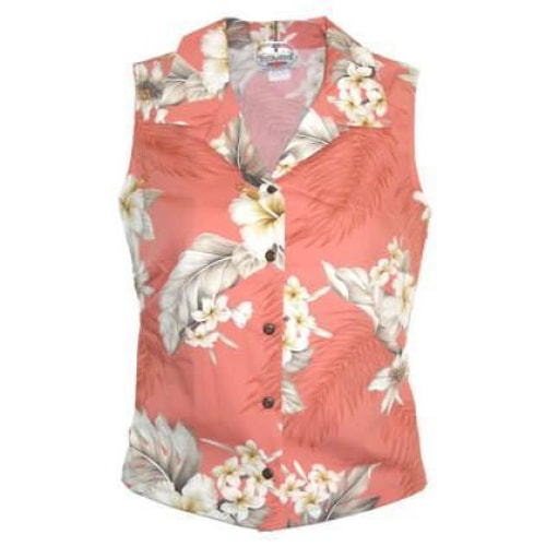 petal hawaiian sleeveless blouse | women blouse hawaiian