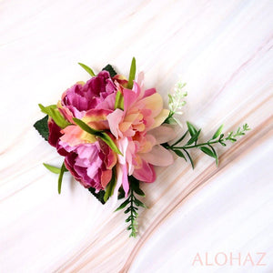 Pink Anela Hawaiian Flower Hair Clip | Hair Accessories