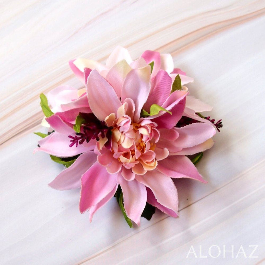 Pink Chrysanthemum Hawaiian Flower Hair Clip | Hair Accessories