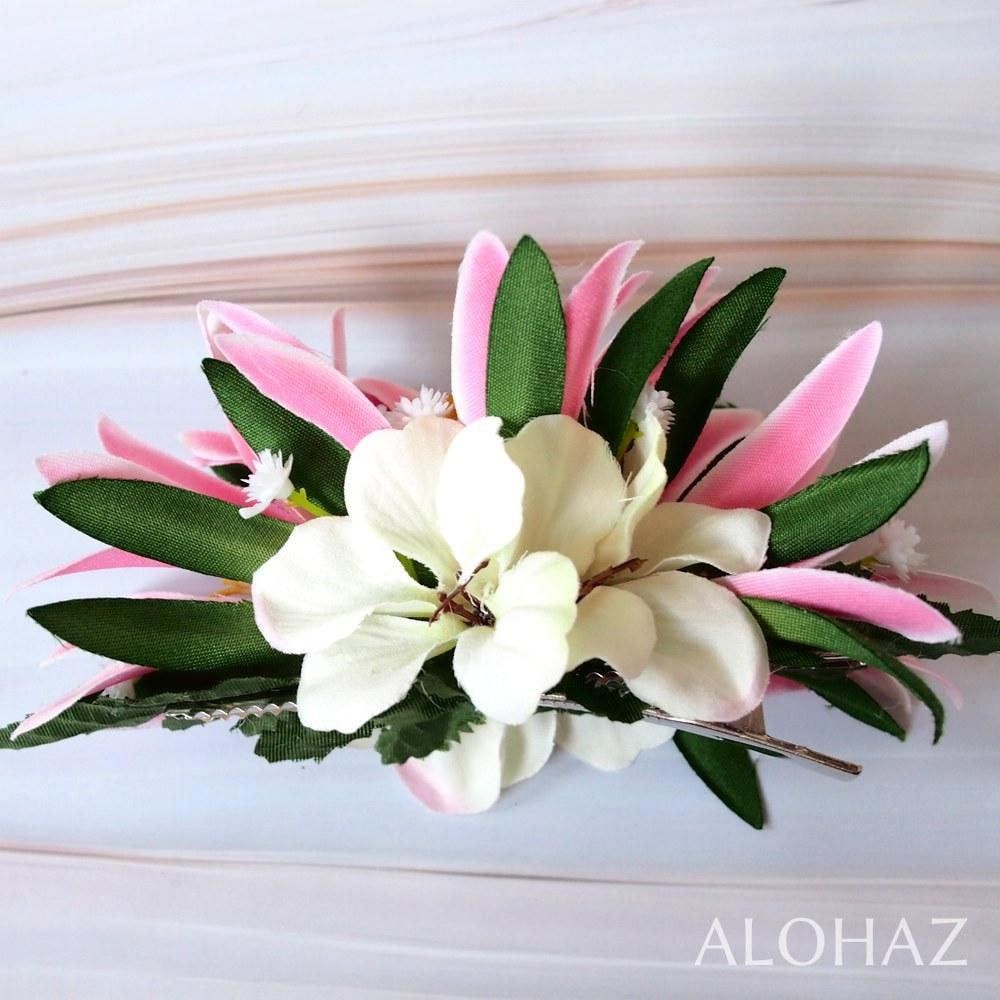 Pink Heavenly Hawaiian Flower Hair Clip | Hair Accessories