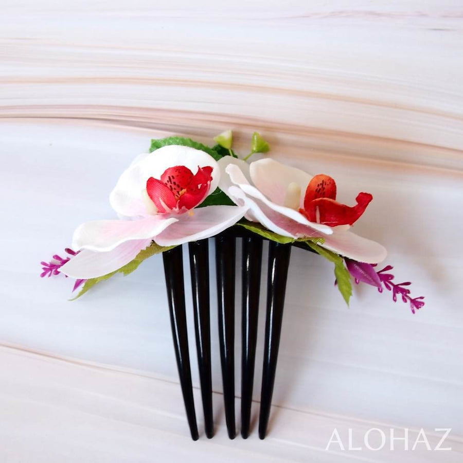 Pink Orchid Joy Hawaiian Hair Comb | Hair Accessories