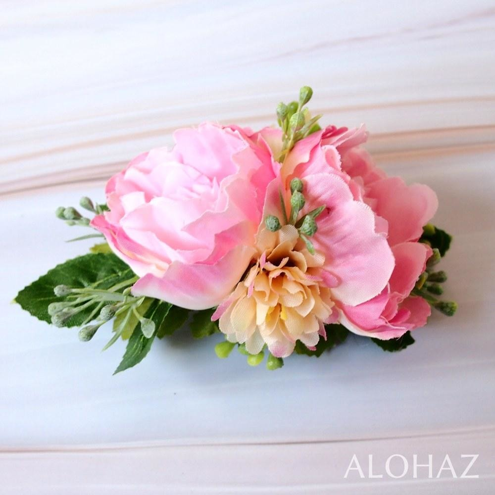 Pink Precious Hawaiian Flower Hair Clip | Hair Accessories