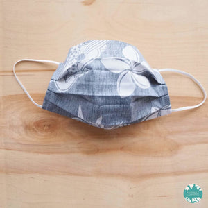 Pleated Face Mask + Filter Pocket ~ Blue Ukulele | face mask