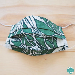 Pleated Face Mask + Filter Pocket ~ Green Forest | face mask