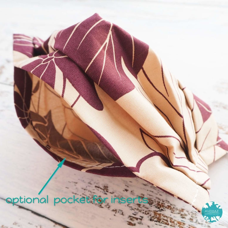 Pleated Face Mask + Filter Pocket ~ Purple Haven | face mask