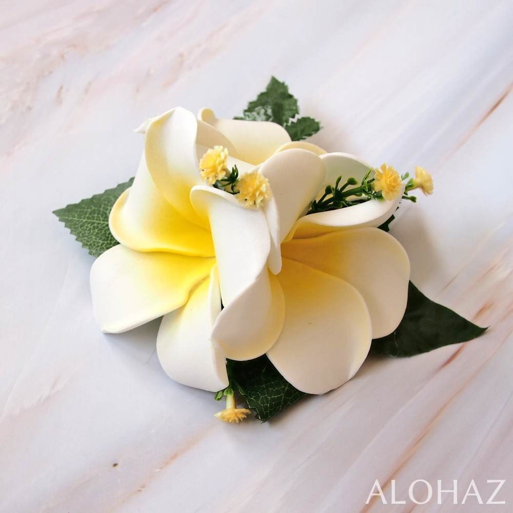 Plumeria Summer Hawaiian Flower Hair Clip | Hair Accessories
