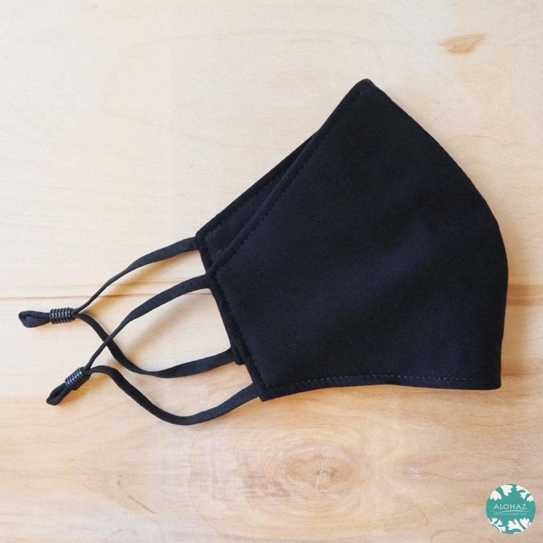 Pocket Face Mask + Adjustable Loops ~ Black Ninja | face mask