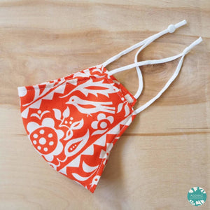 Pocket Face Mask + Adjustable Loops ~ Orange Sunrise | face mask
