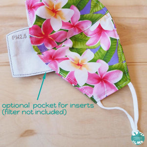 Pocket Face Mask + Adjustable Loops ~ Purple Koko Crater | face mask