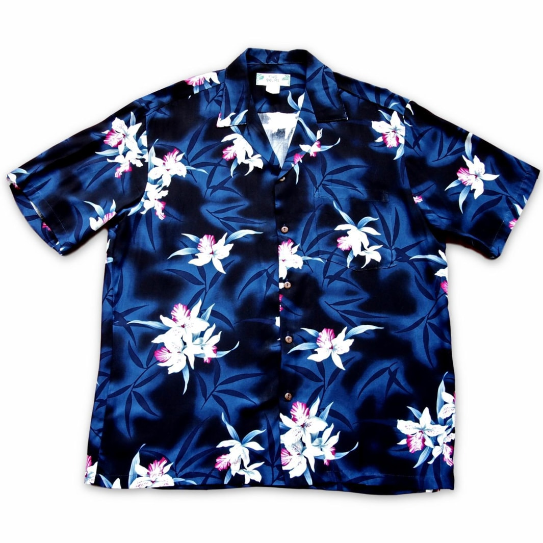 poipu grey hawaiian aloha rayon shirt | hawaiian men shirt