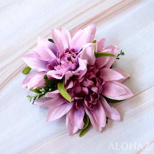 Purple Chrysanthemum Hawaiian Flower Hair Clip | Hair Accessories