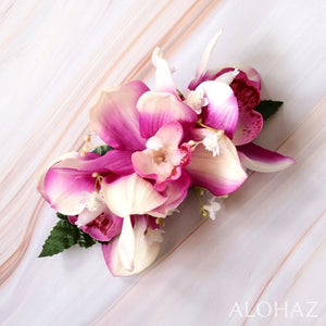Purple Cymbidium Dream Hawaiian Flower Hair Clip | Hair Accessories