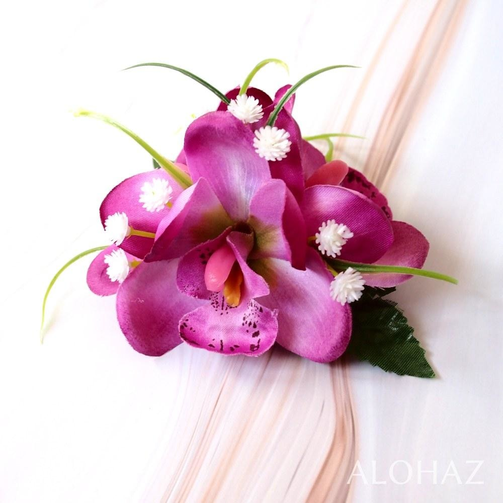 Purple Orchid Wonder Hawaiian Flower Hair Clip | Hair Accessories