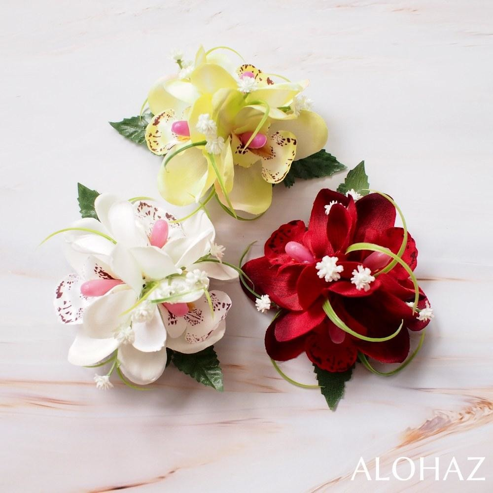 Red Orchid Wonder Hawaiian Flower Hair Clip | Hair Accessories