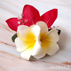 Red Paradise Hawaiian Flower Hair Clip | Hair Accessories
