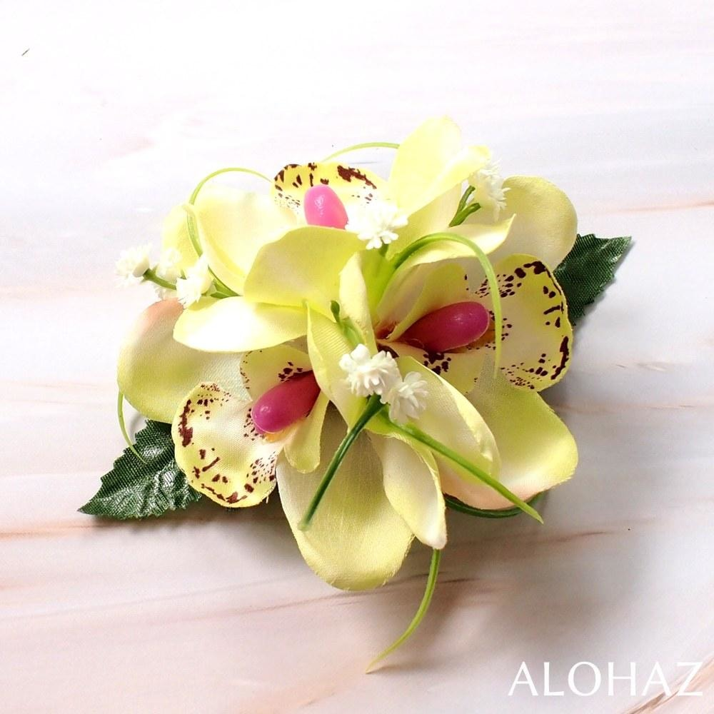 Sage Green Orchid Wonder Hawaiian Flower Hair Clip | Hair Accessories