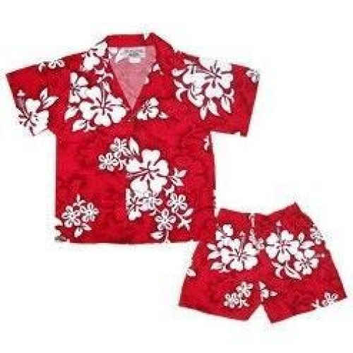 seastar hawaiian boy cabana set | hawaiian boy shirt cabana