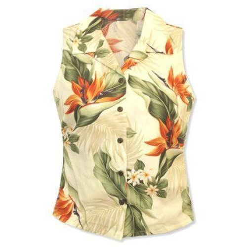 sienna hawaiian sleeveless blouse | women blouse hawaiian