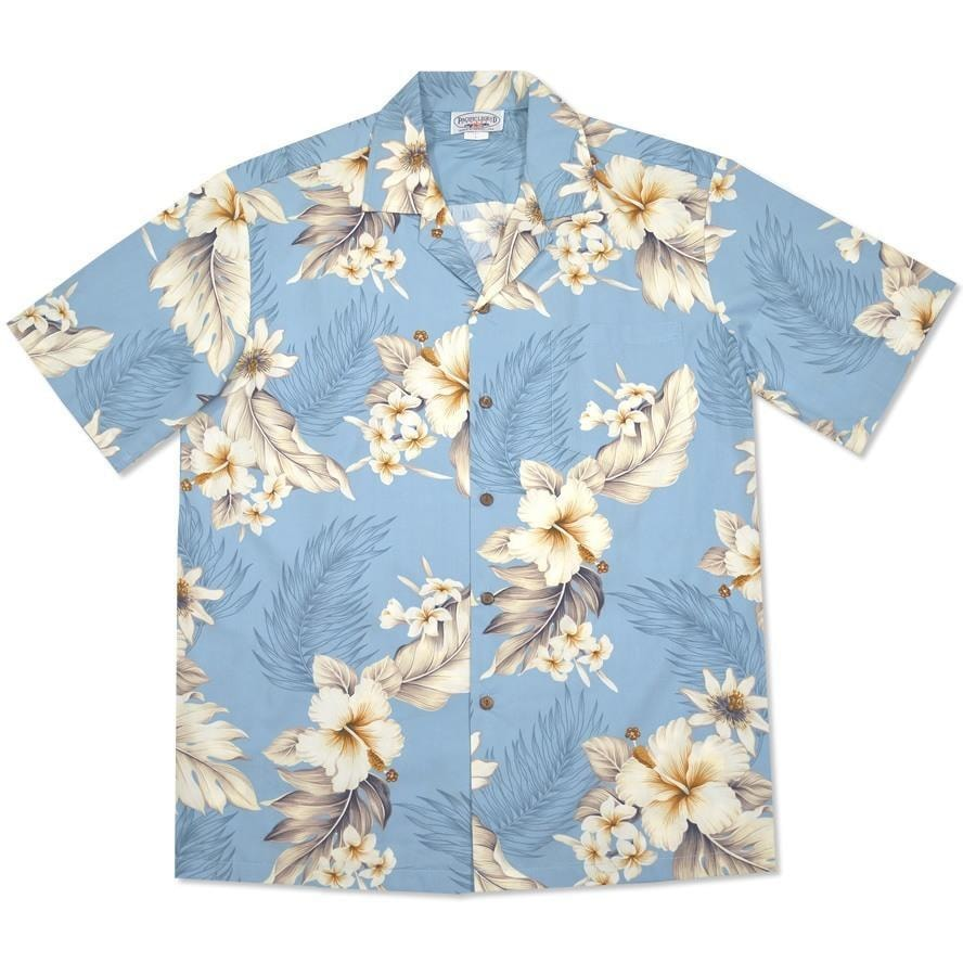 sky hawaiian cotton shirt | hawaiian shirt men