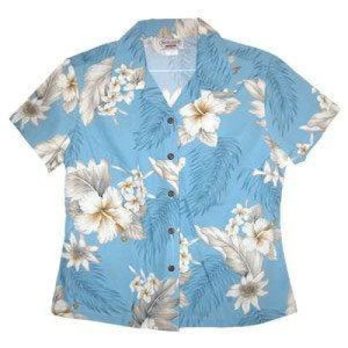 sky hawaiian lady blouse | women blouse hawaiian