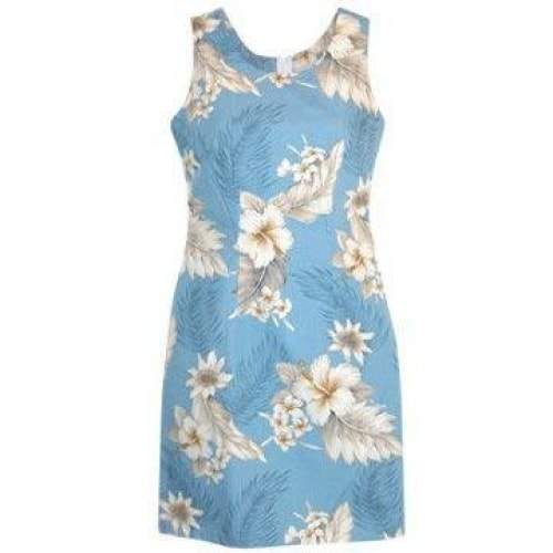 sky hawaiian tank dress | short dress hawaiian